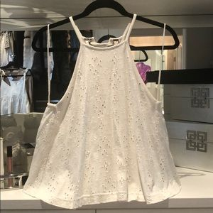 Free People open cotton eyelet lace back